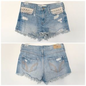 ★ HOLLISTER | DISTRESSED BOHEMIAN LACE POCKETS